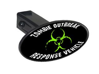 "Zombie Outbreak Response Vehicle Green 1 25"" Tow Hitch Cover Plug Insert"