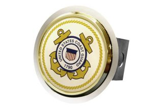 Honda Trailer Hitch Chrome Hitch Cover Plug Insert with US Coast Guard Logo By