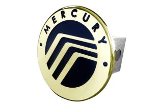 Mercury Trailer Hitch Gold Hitch Cover Plug Insert with Mercury Logo by AG