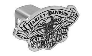 Harley Davidson Trailer Tow Hitch Cover Plug Vintage Bar Shield 3D Eagle Emblem