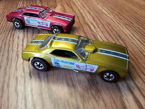 Vintage 1969 Hot Wheels Snake Mongoose Funny Cars Redline Tires with EXTRAS