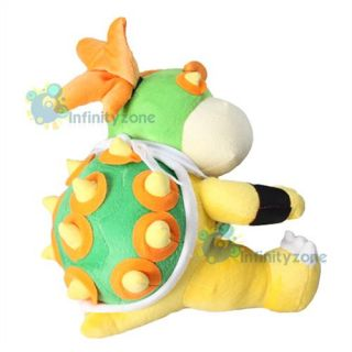 "New Nintendo Super Mario Bros 12"" Bowser Jr Koopa Plush Figure Doll Toy Game"