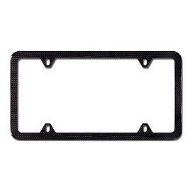 BMW Carbon Fiber Slim Line License Plate Frame 82112210415 Fits All Models