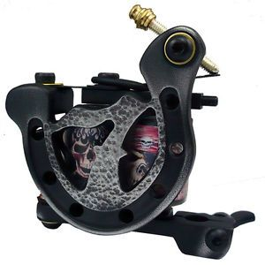 Antique Casting Tattoo Machine Gun 10 Wrap Coils Liner Shader Multi Use Black
