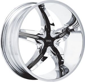 "18"" inch 4x100 4x4 5 Chrome Black Insert Wheels Rims 4 Lug Nissan Honda Mazda"