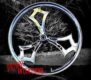 "21"" inch Custom Motorcycle Wheels Rim for Yamaha Raider s Metric Cruiser Chrome"