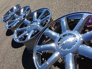 "20"" GMC Sierra Yukon Denali Silverado Tahoe Chrome Factory Stock Wheels Rims"