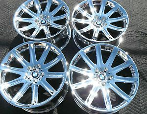 "19"" BMW 745 750 7 Series Wheels Rims New Chrome Factory 59396 359399"