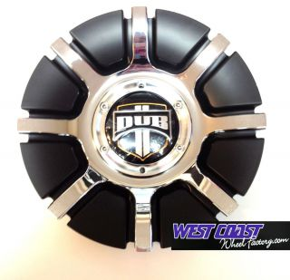 Dub Doggie Style Black Chrome Rim Wheel Replacement Center Cap Part 2240 15