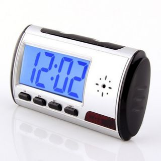 New Wireless Table Alarm Clock Hidden Camera Spy DVR Recorder Remote Motion