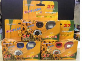 Sunflash Indoor Outdoor Disposable Camera with Flash Colors May Vary