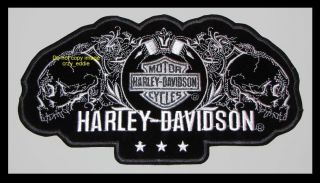 Harley Davidson Profile Skull Patch Discontinued XXL