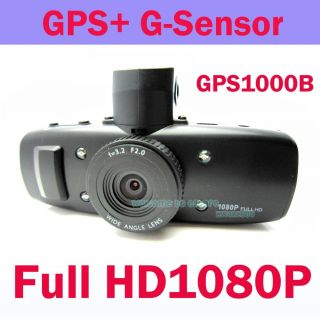 HD 1080p Dashboard Camera Car DVR Black Box Night Camcorder GPS G Sensor GS1000B