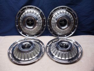 4 Vintage Original 1962 62 Chevy Corvair Monza Spyder Club Coupe Wagon Hubcaps
