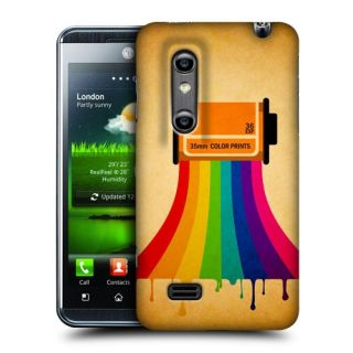 Head Case Camera Film Colour Drip Design Back Case Cover for LG Optimus 3D P920