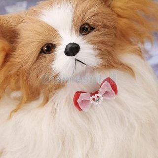Pet Dog Puppy Cat Cute Flower Bowknot Pin Brooch for Apparel Match Fashion