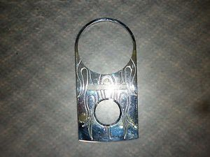 Chrome Dash Panel Cover with Flames Harley Davidson Softail Dyna