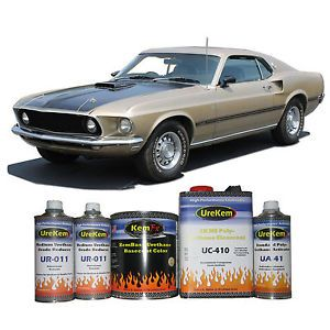 Champagne Gold Metallic Basecoat Clearcoat Auto Body Car Automotive Paint Kit