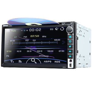 Double 2 DIN E HD Car CD DVD Player Radio RDS Bluetooth USB SD iPod Stereo Audio