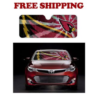 NFL Arizona Cardinals Car Truck Windshield Folding Auto Sun Shade Standard Size