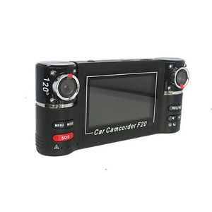 F20 Dual Camera 720P Two Channels Car Video Audio Recorder DVR Motion Detect BCL