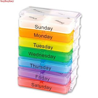 Potable Mini Daily 3 Times 7 Day Weekly Sorter Medicine Pill Box Case Oganizer
