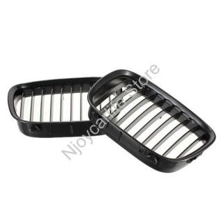 1 Pair Black Front Center Kidney Style Grille Grill for 97 00 BMW E39 528i 540i
