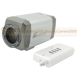 30x Zoom Auto Focus Sony CCD Camera 3 3 99mm Vari Focal Lens Remote Control