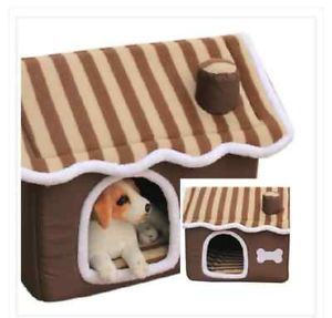 Portable Folded Pet Dog Cat House Soft Warm Home Cushion Doghouse Cabin Kennel