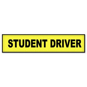 "Student Driver Caution Car Bumper Sticker Window Decal 13"" x 4"""