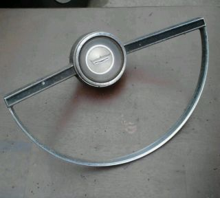 "1965 66 Ford ""Galaxie 500"" ""Fairlane"" Steering Wheel Horn Ring Button"