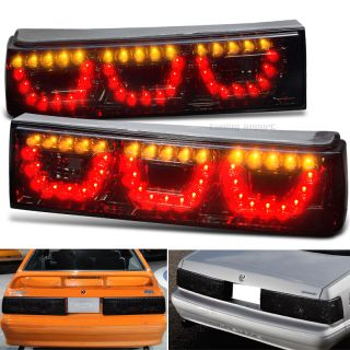 1987 1993 Ford Mustang V8 GT SVT Cobra Smoked Full LED Tail Reverse Lights Lamps