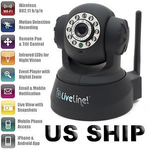 Wireless Night Vision IP Security Camera Backup Record Online on Cloud Internet