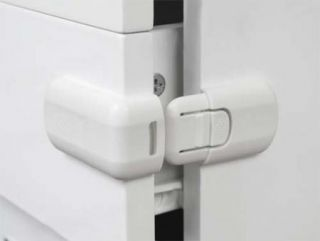 2 Pcs White Door Drawer Cabinet Fridge Safety Lock for Child Baby Toddler Kid