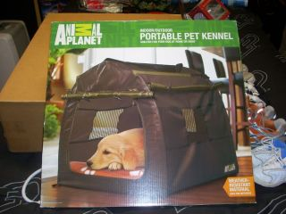 New Animal Planet Indoor Outdoor Portable Pet Kennel Dog Crate Shelter Folds