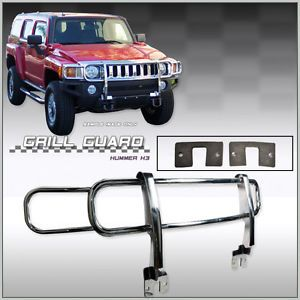 06 09 Hummer H3 Front Bumper Chrome Brush Grille Guard