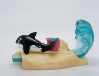 Vintage Littlest Pet Shop SeaWorld Sea World Pets Baby Shamu Base Waves Tail Set