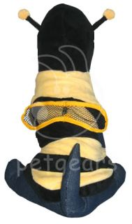 Pet Dog Cat Bee Halloween Costume Black Yellow Small Apparel Size 10 12 14 18