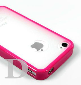 Hot Pink Bumper Skin Hard Case Cover iPhone 4 4S Matte