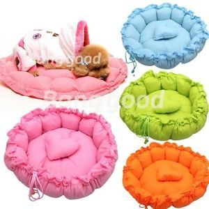 New Pet Puppy Dog Cat Stylish Soft Bed Sleeping House Warm Cushion Heart Pillow