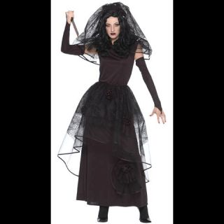 Dark Bride Black Wedding Dress Woman Lady Halloween Costume Adult 2 4 x Small