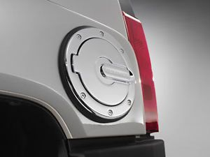 06 11 Hummer H3 Chrome Fuel Gas Tank Door Kit w Logo