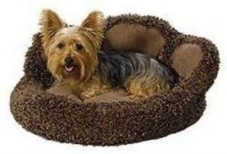 "Midwest Quiet Time Paw Shaped Pet Dog Cat Bed Chocolate 21"" x 21"" x 9 5"""