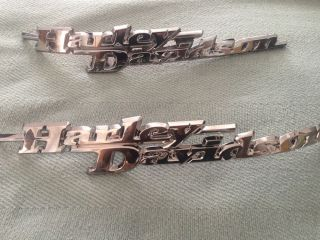 Chrome Harley Davidson Touring Fuel Gas Tank Emblems 97 13 and More