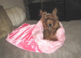 Baby Pink Faux Fur Cuddle Snuggle Sack Blanket Dog Cat Pet Bed Choose
