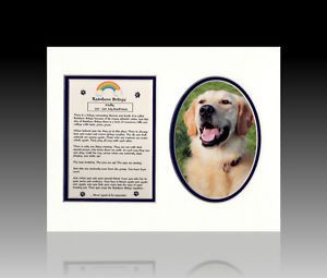Rainbow Bridge Personalizaed Dog Cat Pet Tribute Memorial Poem Picture