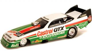 John Force Castrol GTX Drag Car 1 43rd Scale Slot Car Waterslide Decals