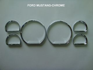 Ford Mustang GT Dash Dashboard Gauge Chrome Rings Bezel