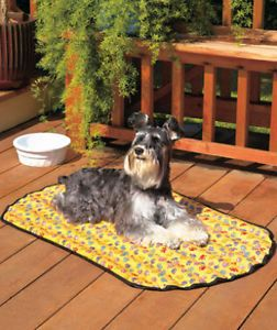 New Indoor Outdoor Pet Dog Puppy Cooling Rest Mat Bed