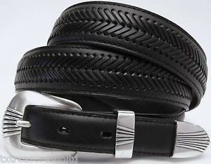 Nocona Belts Men's Western Casual Dress Accessories Black Leather Belt 36 NWT